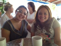 Tanya Coronado and Katyel from Pty Lawyers at Playacommunity Business breakfast.